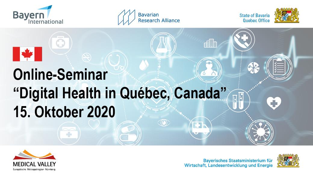 """Online-Seminar """"Digital Health in Québec, Canada"""""""