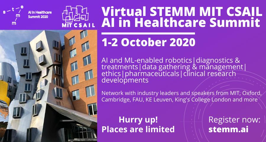 Virtual STEMM MIT CSAIL AI in Healthcare Summit