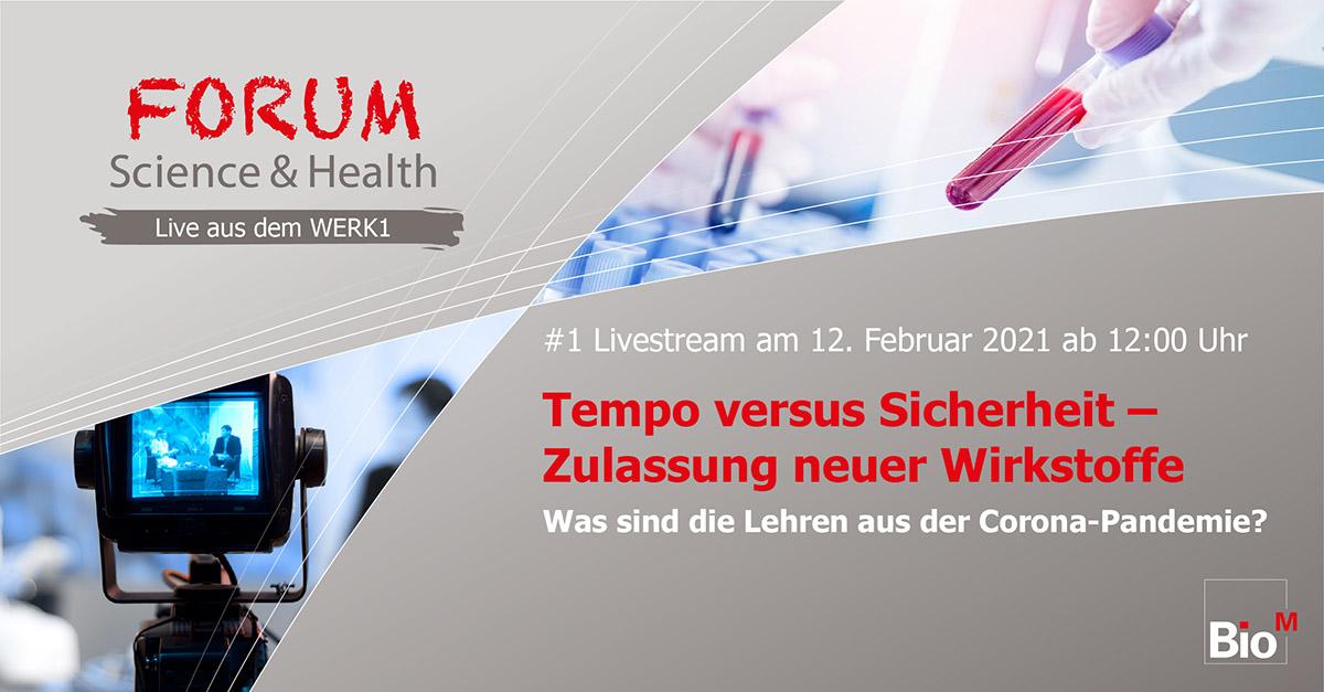 FORUM Science & Health – live aus dem WERK1