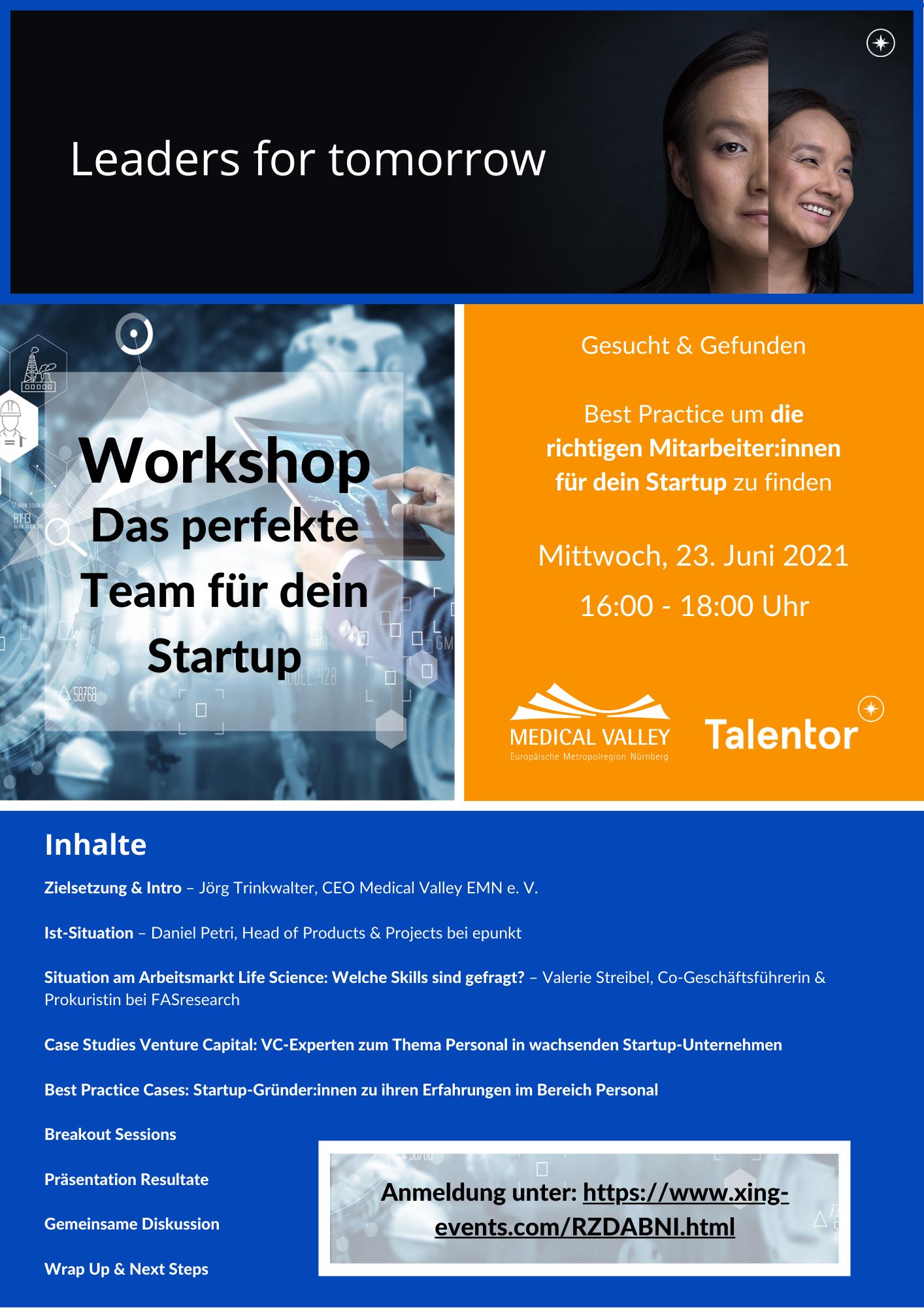 Das perfekte Team für dein Startup - Online Workshop