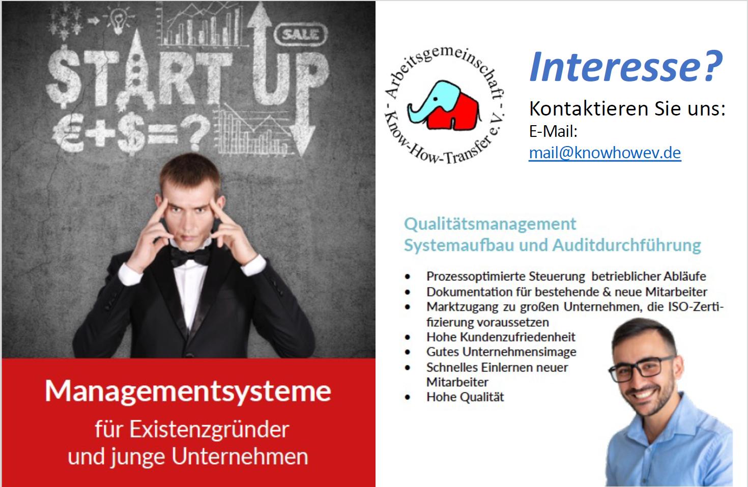 Tagesseminar Qualitätsmanagement – Arbeitsgemeinschaft Know-How-Transfer e.V.